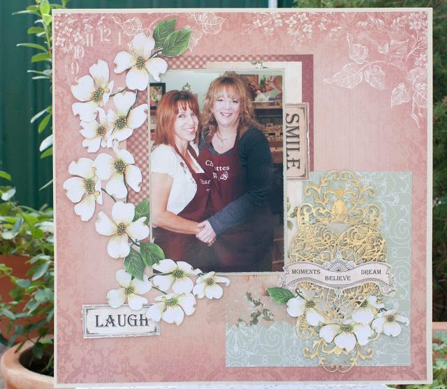 Artdeco Creations Brands: Enchanted Tea Party and Vintage Roses Layout Collection by Denise Boddey