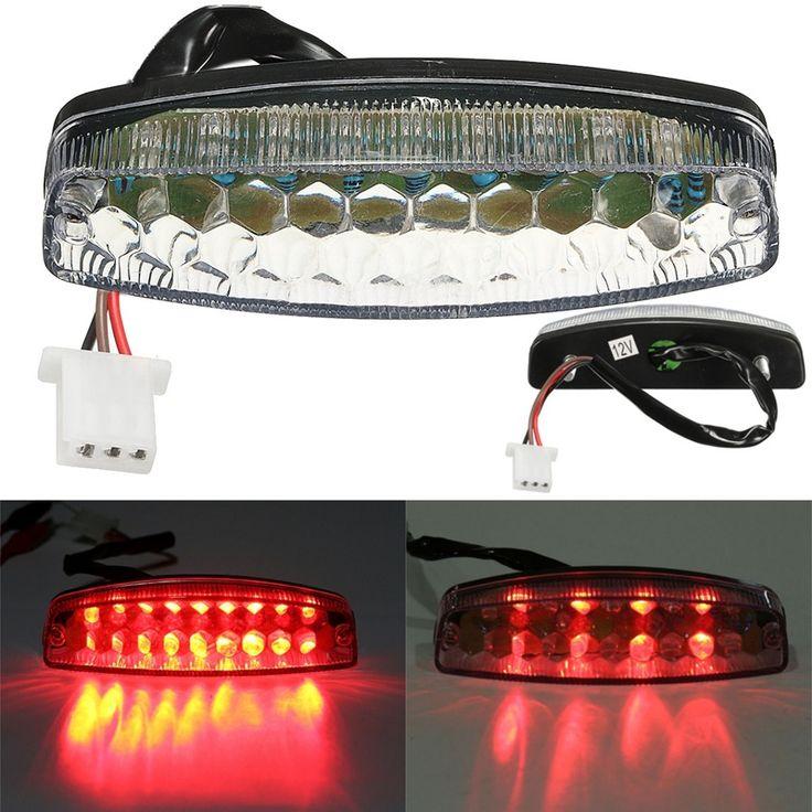 Red LED de Cola Trasera de Luz de Freno Para 50 70 110 125cc ATV Quad Kart TaoTao Sunl Chino Luz de La Motocicleta