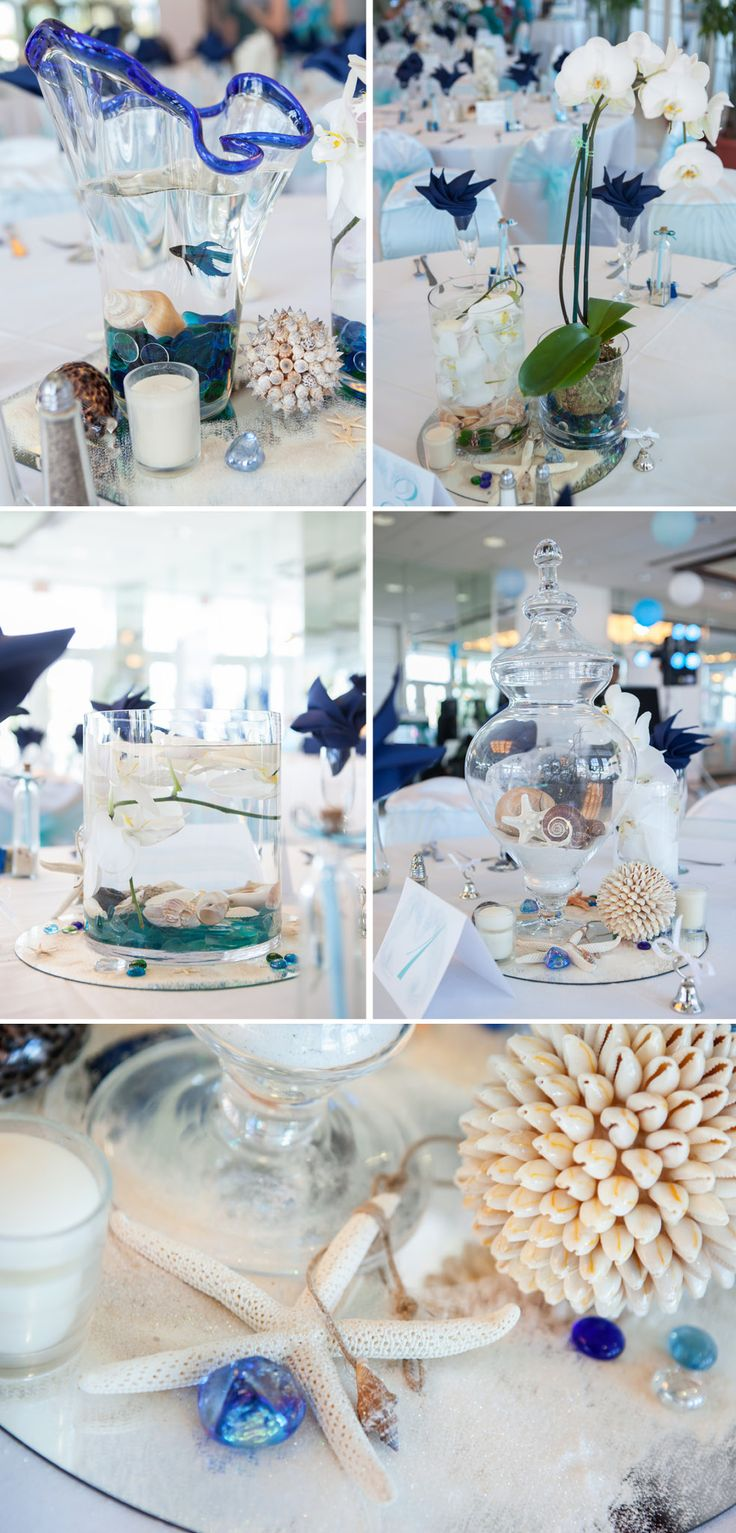 Beach/ Nautical Wedding I would add a pop of color along with the blue & white