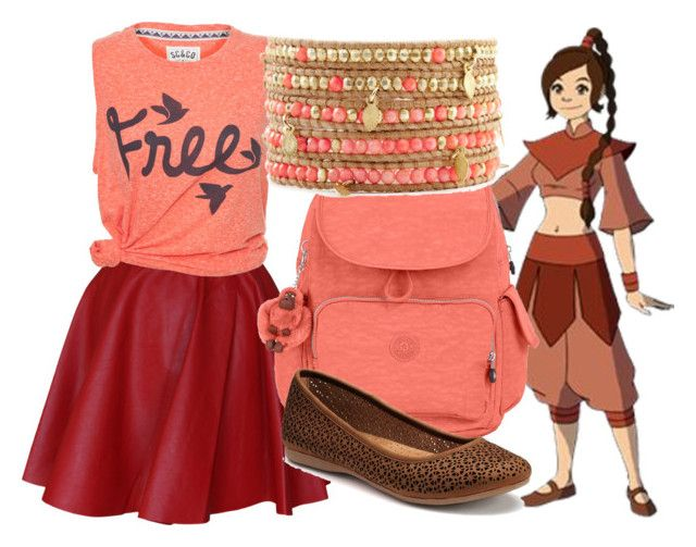 """Ty Lee - Back to school"" by dutchveertje ❤ liked on Polyvore featuring Funlayo Deri, Kipling, Croft & Barrow, BackToSchool, school, avatar, avatarthelastairbender and tylee"