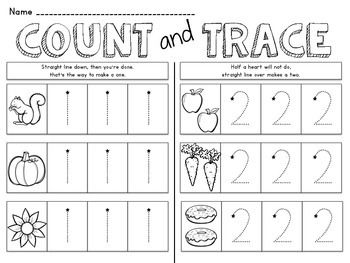 1-10 Number Tracing Book (FREE)