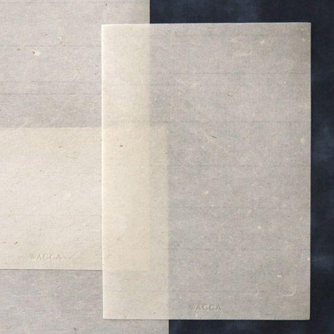 黒皮煮 手漉き楮紙 便箋 10枚入 - WACCA ONLINESHOP WASHI PAPER