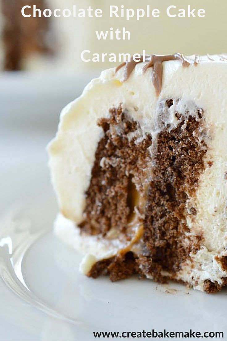 Caramel Chocolate Ripple Cake