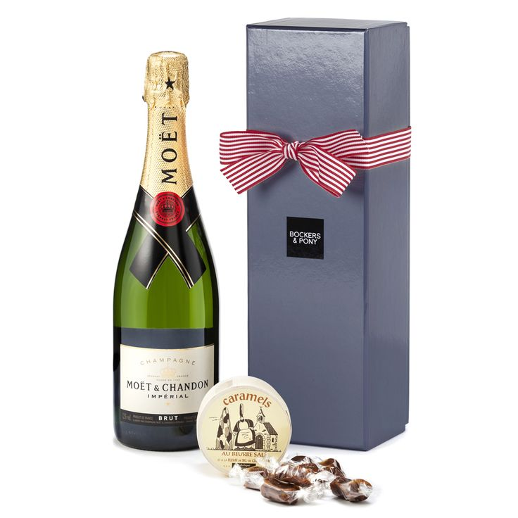 Moet Chandon & Caramels | Hampers | Champagne & Wine Hampers | Valentine's Day Hampers