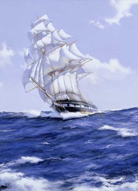 Открытки с кораблем и морем, картинки днем