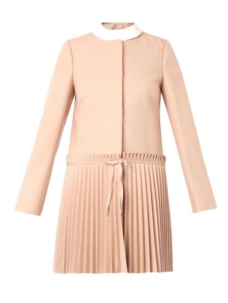 <3  REDValentino Pleated-skirt coat