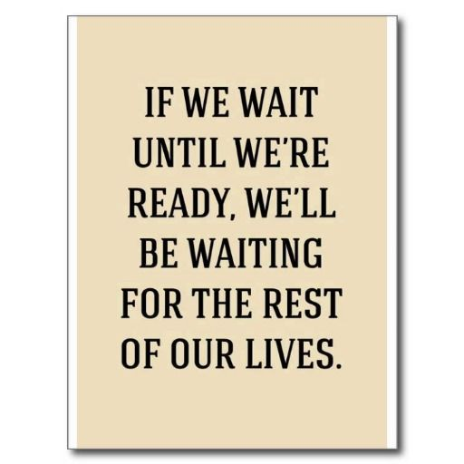 WAITING FOR THE REST OUR LIVES MOTIVATIONAL SAYING POST CARDS