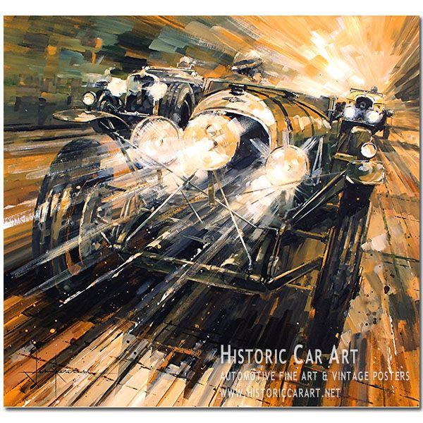Only Just (Bentley / Le Mans 1928) Original Painting by John Ketchell
