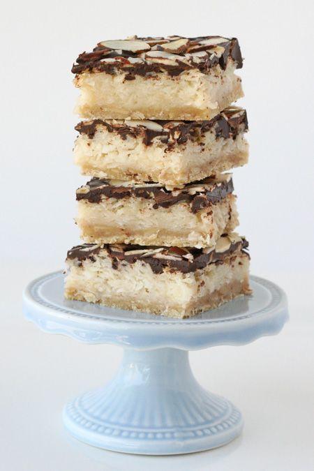 Almond Joy Bars Recipe (by Glorioious Treats): Almonds Joy Cookies Bar, Almonds Cookies Recipes, Joy Bar, Almond Joy, Glorious Treats, Bar Recipes, Sweetened Condensed Milk, Glorioious Treats, Cookies Bar Coconut Chocolates