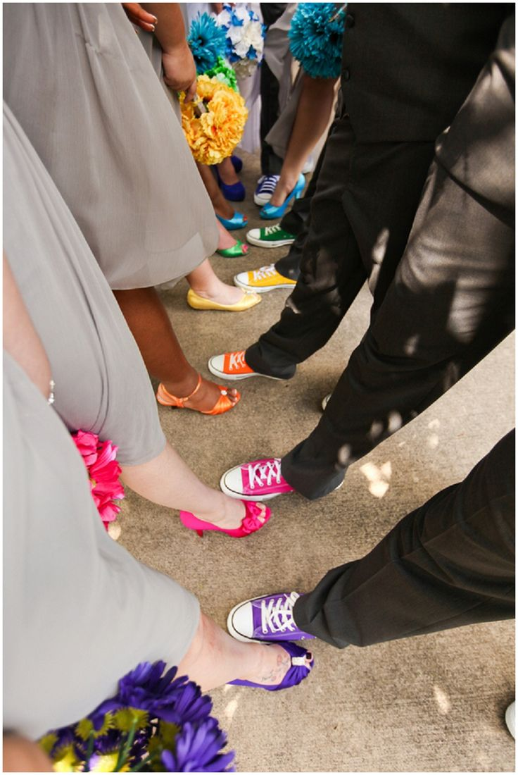 Cute picture idea but I'm not sure if it's worth putting the boys in colored shoes. We'd probably do neutral shoes.