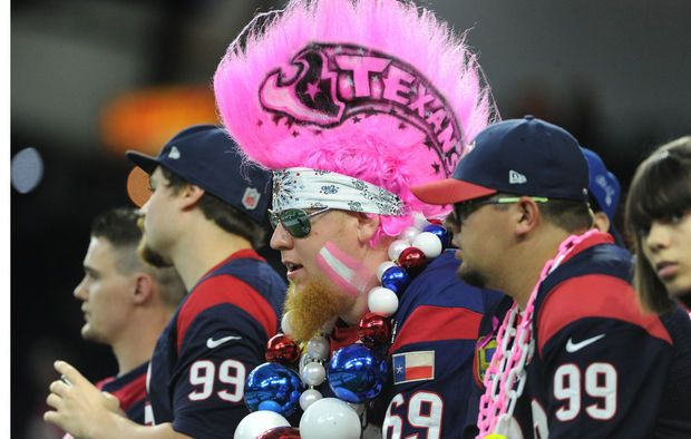 Houston Texans fans before an NFL football game against the Indianapolis Colts, Thursday, Oct. 8, 2015, in Houston. (AP Photo/Eric Christian Smith) -    Indianapolis Colts beat Houston Texans: Thursday Night Football live chat recap | OregonLive.com