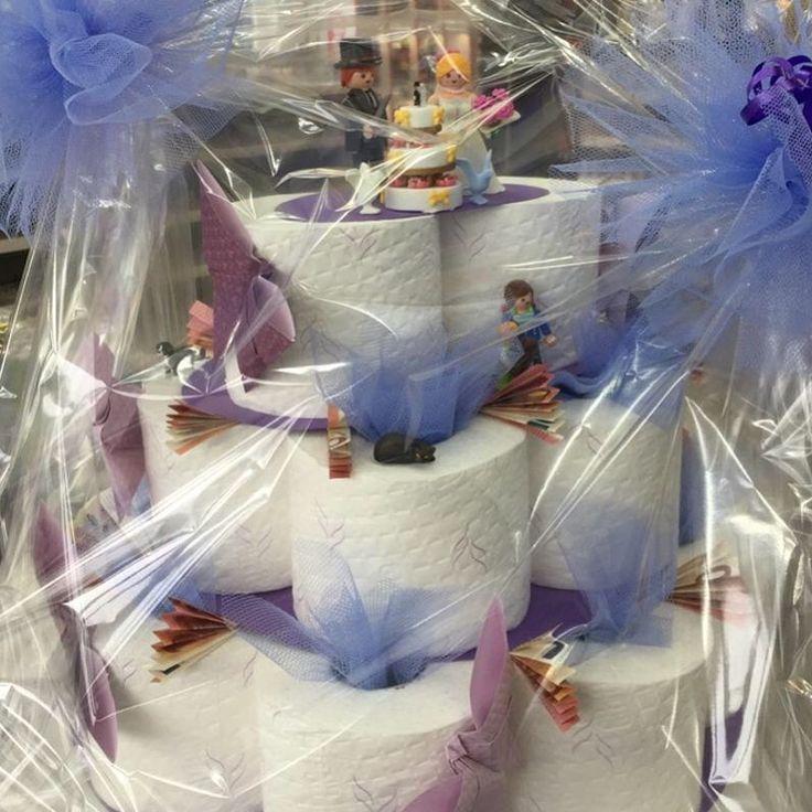#Klorollentorte #Hochzeit #Geldgeschenk #Playmobil
