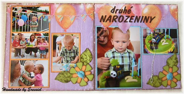 Double page layout from our sons's 2nd birthday party *** ERESSIEL SCRAP DESIGN
