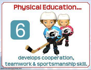 TOP 10 REASONS FOR PHYSICAL EDUCATION- PRINTABLE DISPLAY SIGNS - TeachersPayTeachers.com