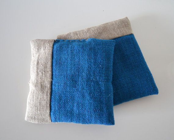 lavender pillow - lavender sachets in linen and blue fabric - minimal - modern home decor - lavender pillow - aromatherapy - drawers sachets