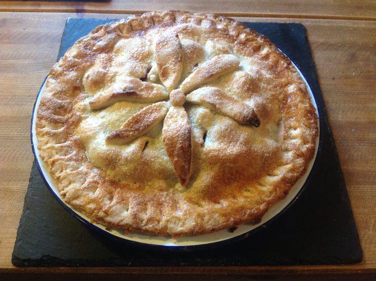 Apple and blackberry pie