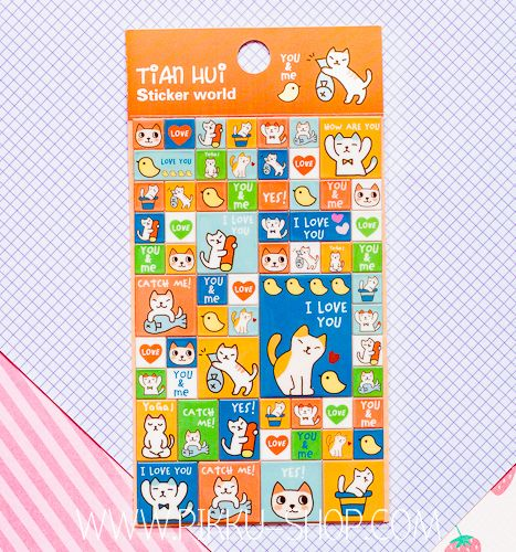 Korean Tian Hui Stickers from Pikku Shop | www.pikku-shop.com | #kawaii #stickers #cat #cute