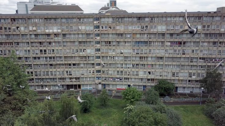 Drone footage shows Robin Hood Gardens ahead of imminent demolition