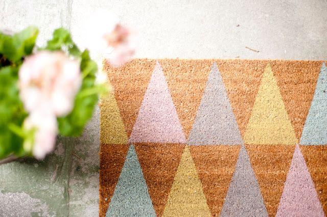 cute DIY doormat #decor #DIY