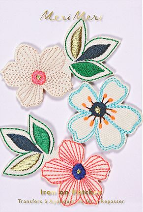 Flowers Iron On Patch – The Bullish Store - #kids #patch #ironon #children #cute #floral #getbullish