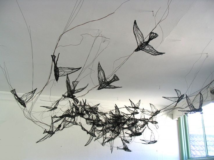 Beautiful wire bird sculptures -Celia Smith – (click for link to artists website)