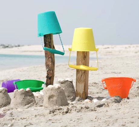 Scrunch bucket - a set might be handy for forest and beach play & gathering natural treasures...