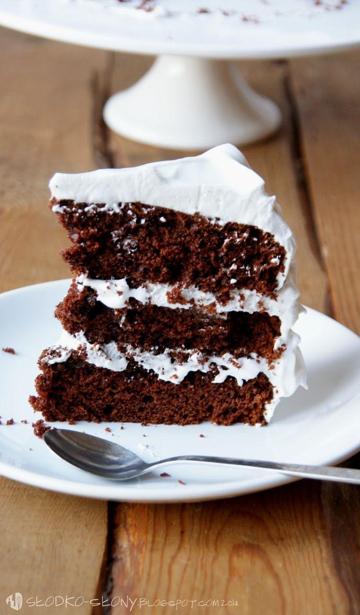 www.slodko-slony.blogspot.com - Diabelski tort / Devil's food cake