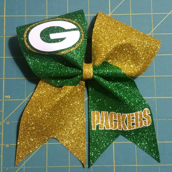 Green Bay Packers Cheer Bow by LilDCheerBows on Etsy