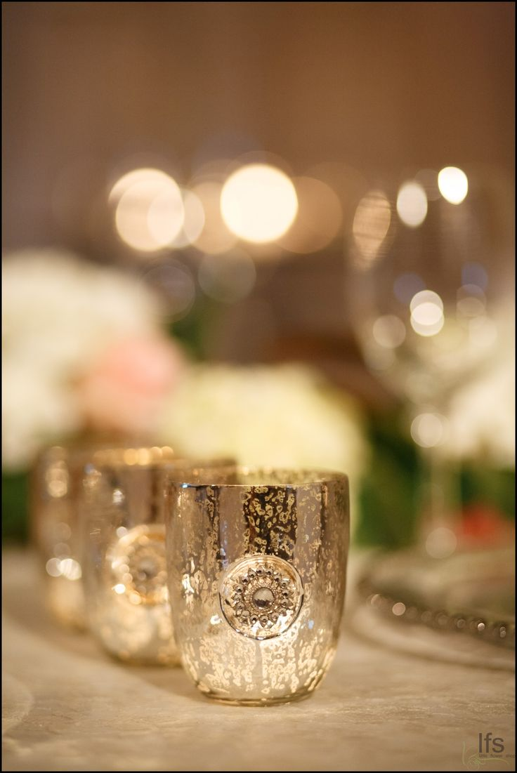 Little Flower Shop's mercury glass selection will enhance and add shine to table settings.