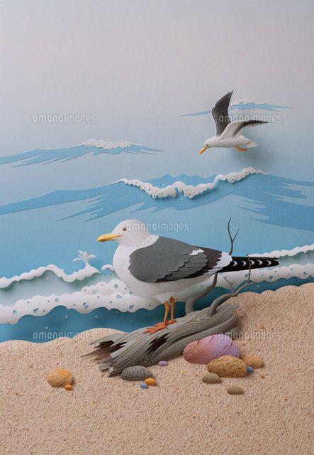 Beach Scene || セグロカモメ (c)HIDEHARU NAITO/orion