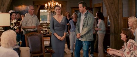 Love this dress...The Proposal_Sandra Bullock grey dress front full, Ryan Reynolds