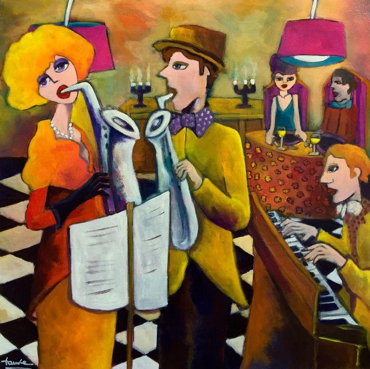 Blues - Fauve Artiste Peintre - Martine DECHAVANNE