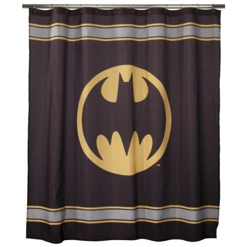 Batman Symbol Fabric Superhero Shower Curtain