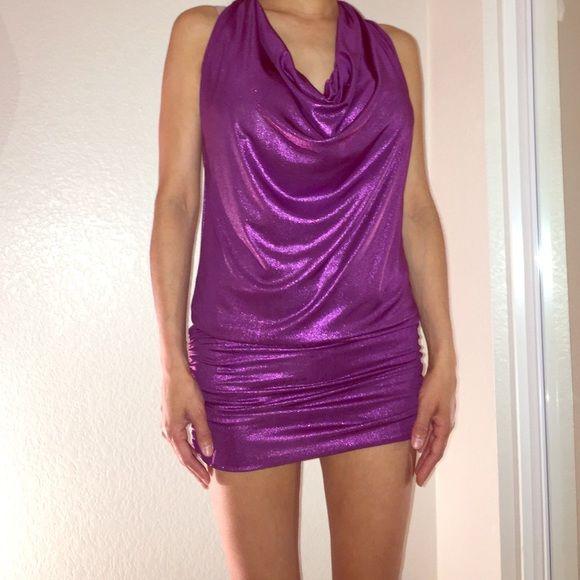 HOST PICK Club Dress NWOT Purple sparkle dress.!! Perfect for a night out.! WINDSOR Dresses Mini