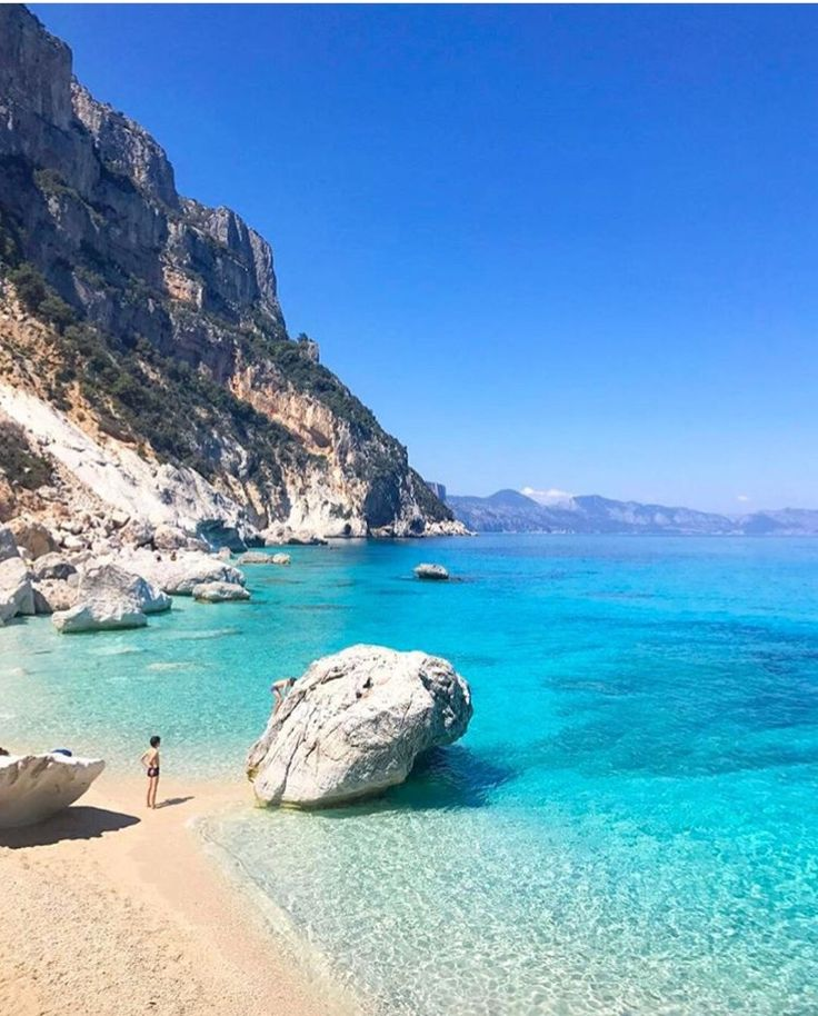 Praia Goloritze, Sardenha, Itália