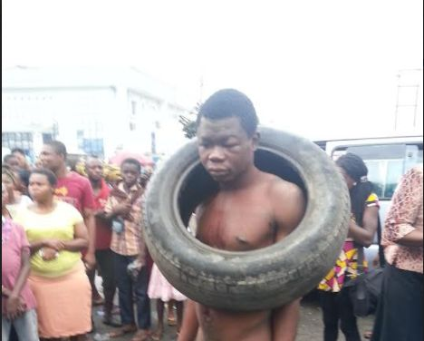 A young man John Ator 25 was on Wednesday narrowly escaped being roasted by angry mob at Marian Market Calabar Cross River Statecapital. The suspect was alleged to have stolen two basins of garri at the Market in the early hours of Wednesday. An eyewitness told DAILY POST that the suspect who had been into the crime was unlucky this time as he was caught in the act when the traders decided to lay ambush for him.  One of the market managers who pleaded anonymity said reports of garri theft…