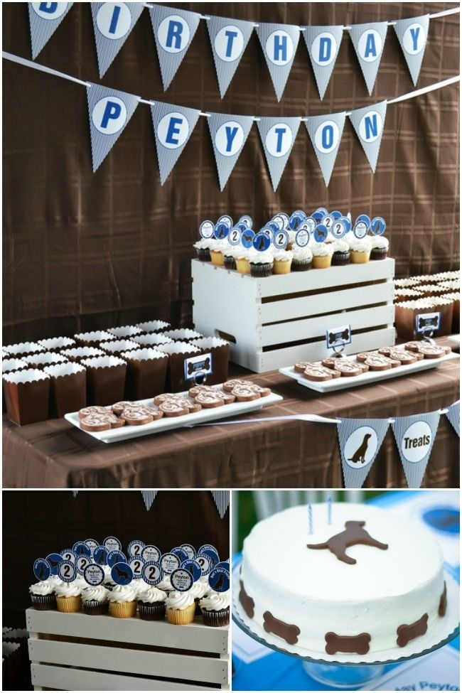 A dog themed second birthday party themed birthday for 2nd birthday party decoration