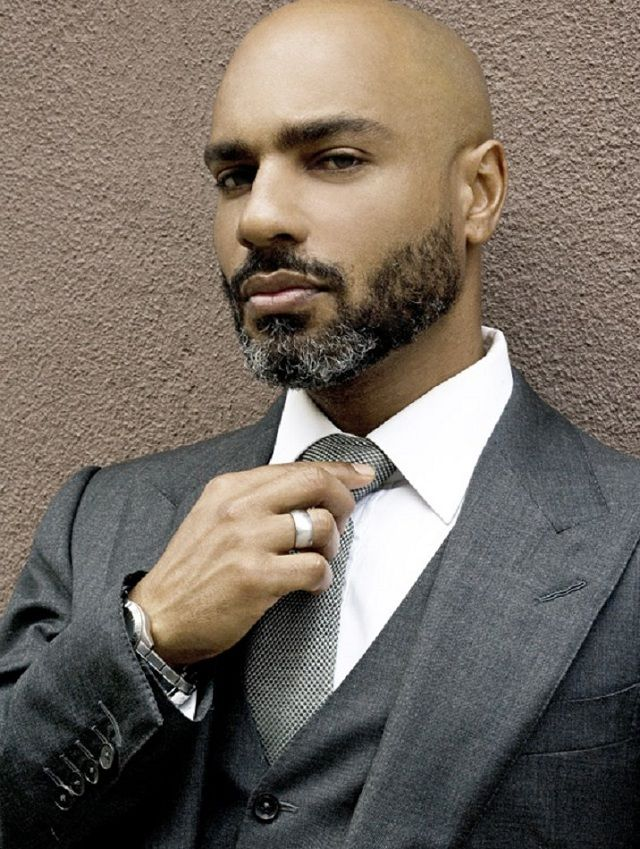 beardedandblack:    Bearded.  Black.  Bald.  Business suit.