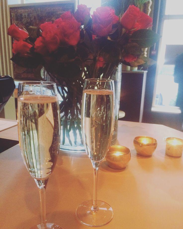 Champagne with mum to celebrate her birthday