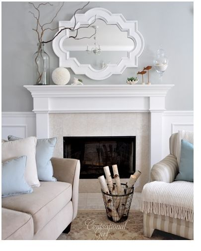 Our next house will have a fire place and a mantle. So cozy and there is so much you can do with it!