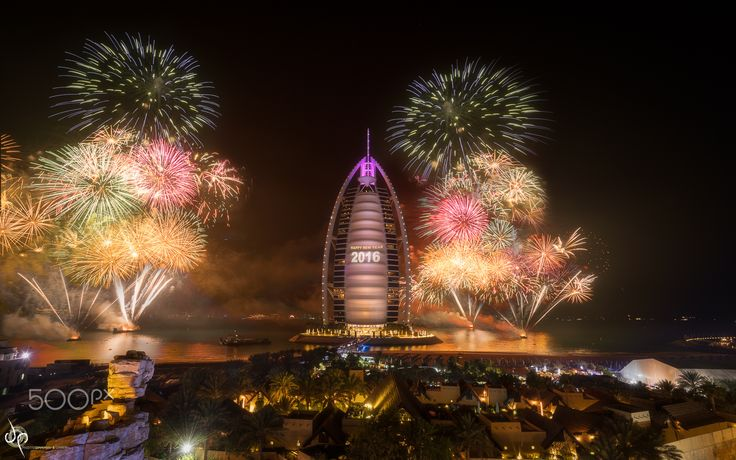 """A New Beginning"" Happy 2016 :) - In Dubai 2015 ended up badly with ""The Address"" hotel gutted by fire but as it is Dubai they quickly recovered & went ahead with the Fireworks....  Salute to those armed officer & Fire Brigade who tackled it quickly.. Hopefully 2016 will be better..."