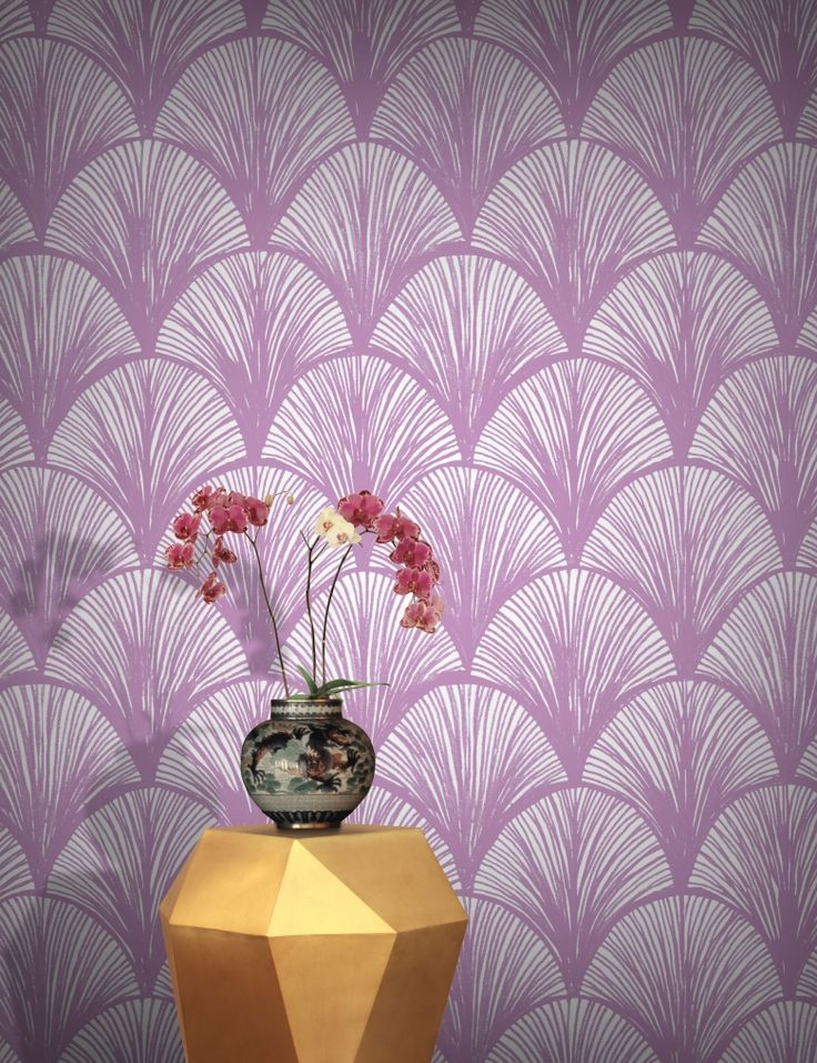 Orchid Scales Wallpaper by Michiko Design | FEATHR™