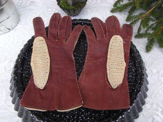 Vintage Handschuhe - Brocante Cabrio Damen Handschuhe Oldtimer shabby - ein Designerstück von artdecoundso bei DaWanda