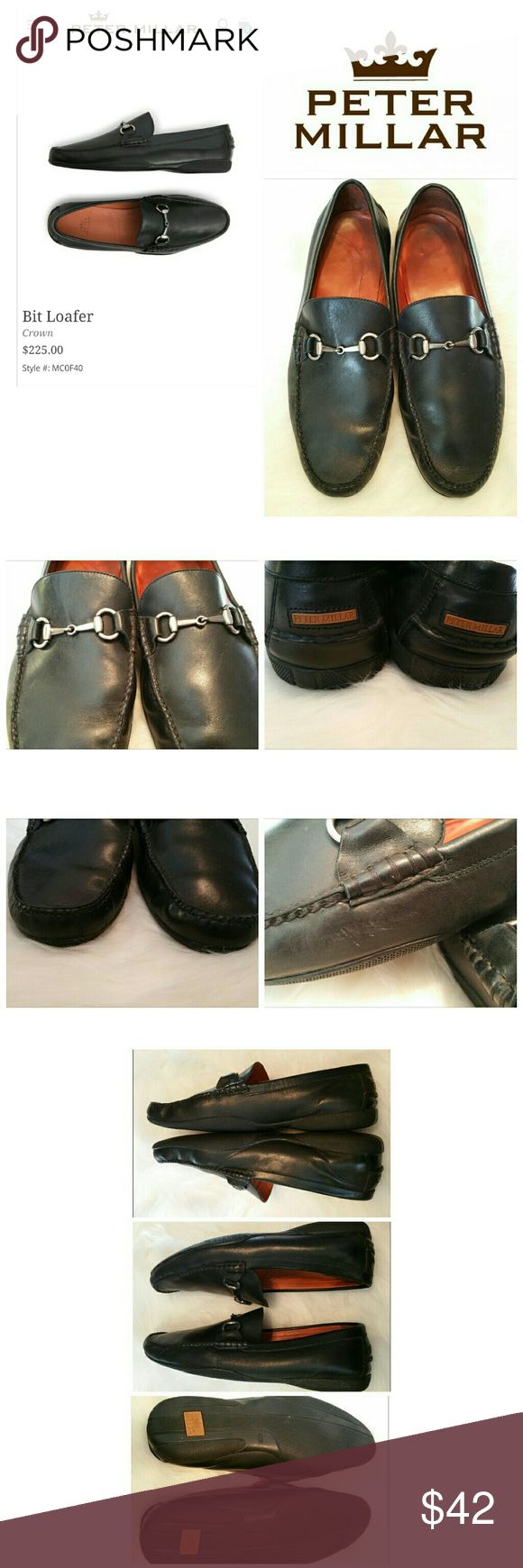 Peter Millar Bit Loafers These loafers are soft and ready to wear!!  Minimal wear to the bottoms and outside leather.  Small scuff, as seen in the pictures, that I'm sure will buff out with a polish. Peter Millar Shoes Loafers & Slip-Ons