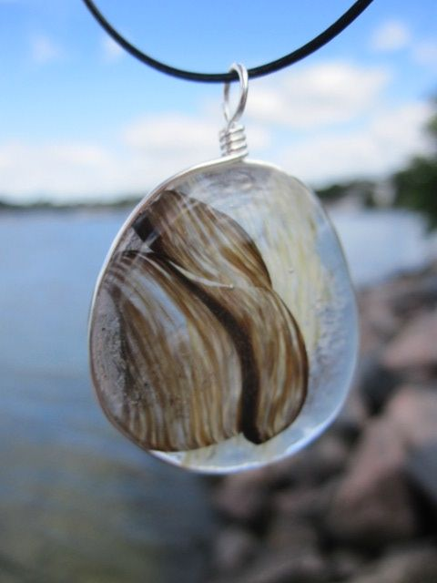 Glass pendant made of recycled glass. Made in Finland. #uniquedesignbymaria