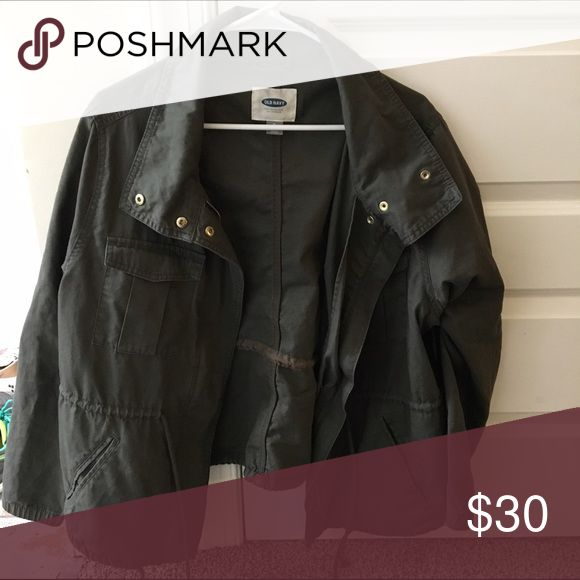 Women's utility jacket Dark green utility jacket with multiple zippers, pockets, and draw strings Old Navy Jackets & Coats Utility Jackets