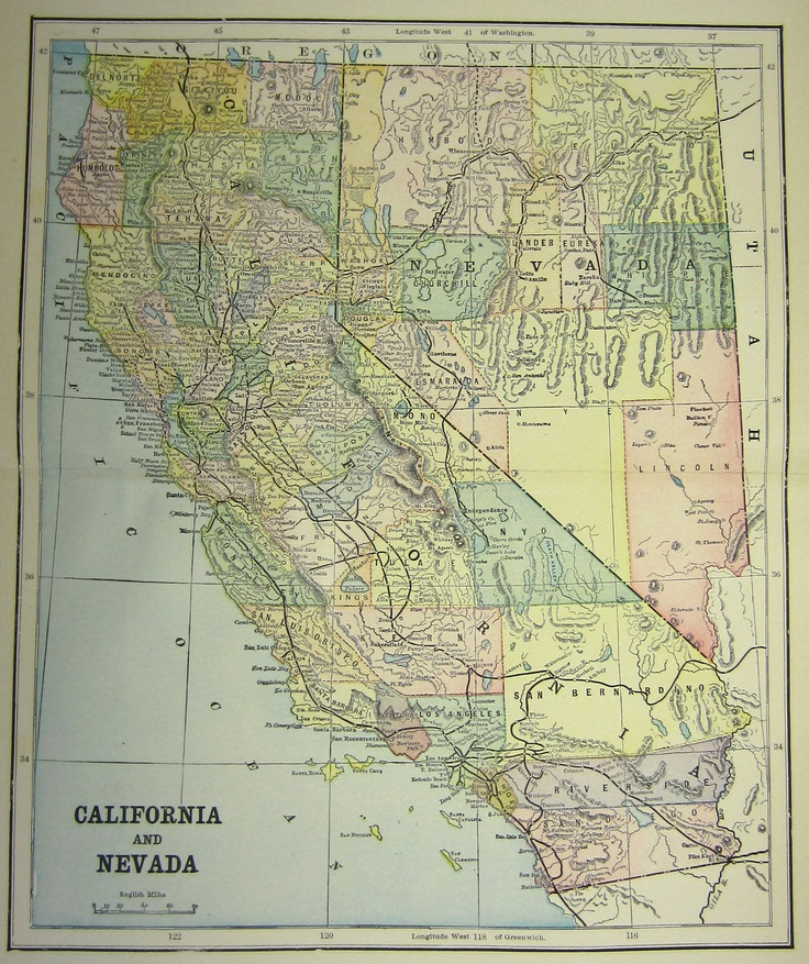 Maryland Map Coordinates%0A Antique Map of California  Just purchased