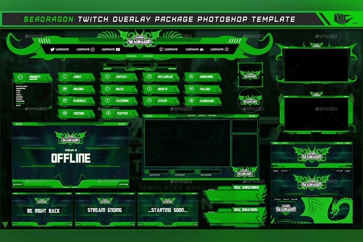 totgraphic I will design profession twitch overlay
