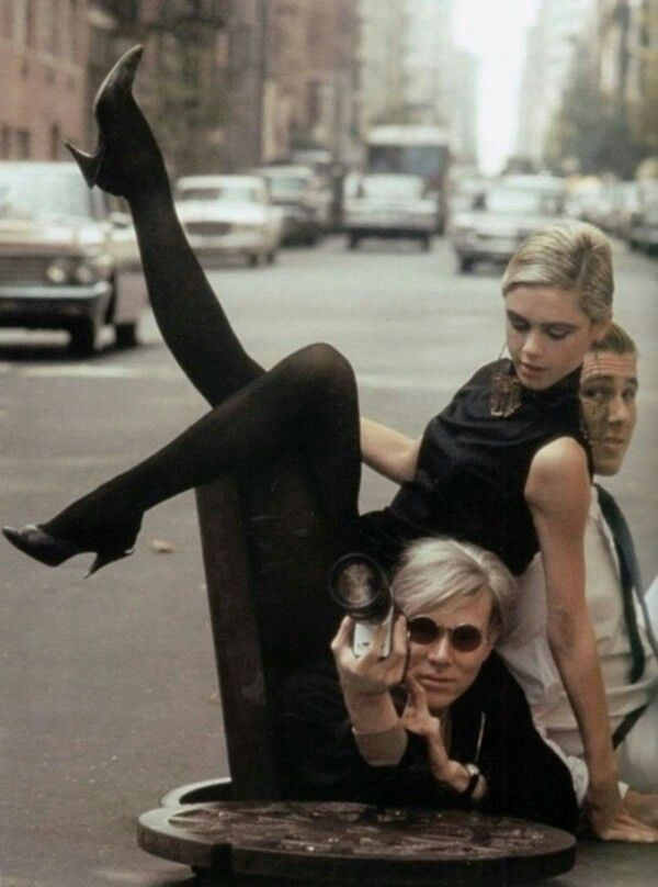 Edie Sedgwick, Chuck Wein & Andy Warhol by Burt Glinn, NY, 1965