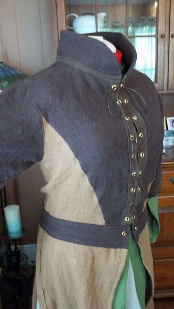 Custom Linen Doublet/Jerkin by LARPEssentials on Etsy